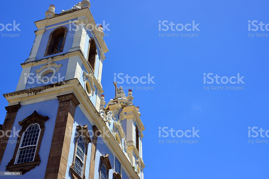 Lady of the Rosary of the Blacks Church, Salvador, Brazil stock photo
