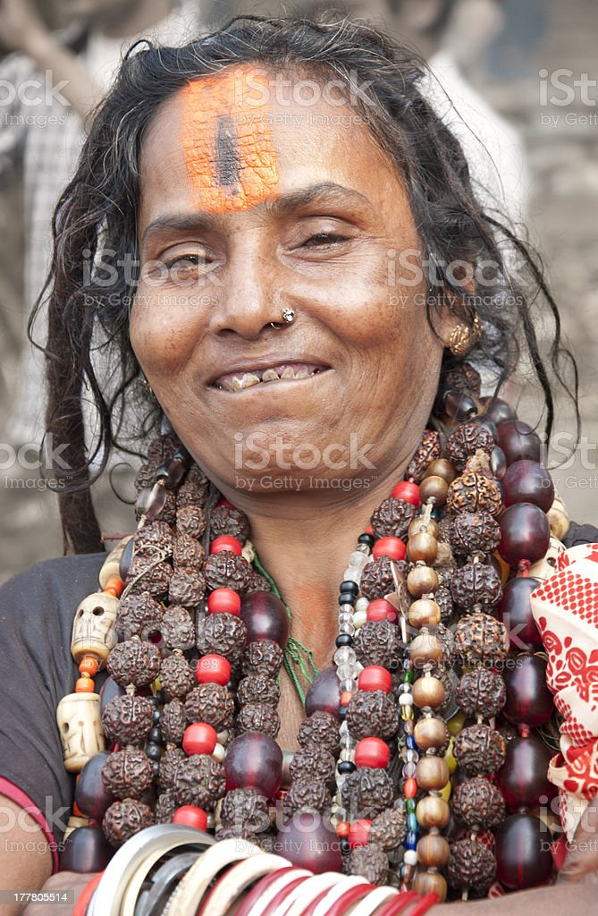Lady of the Sadhus royalty-free stock photo