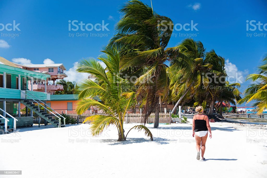 Lady on Beach royalty-free stock photo