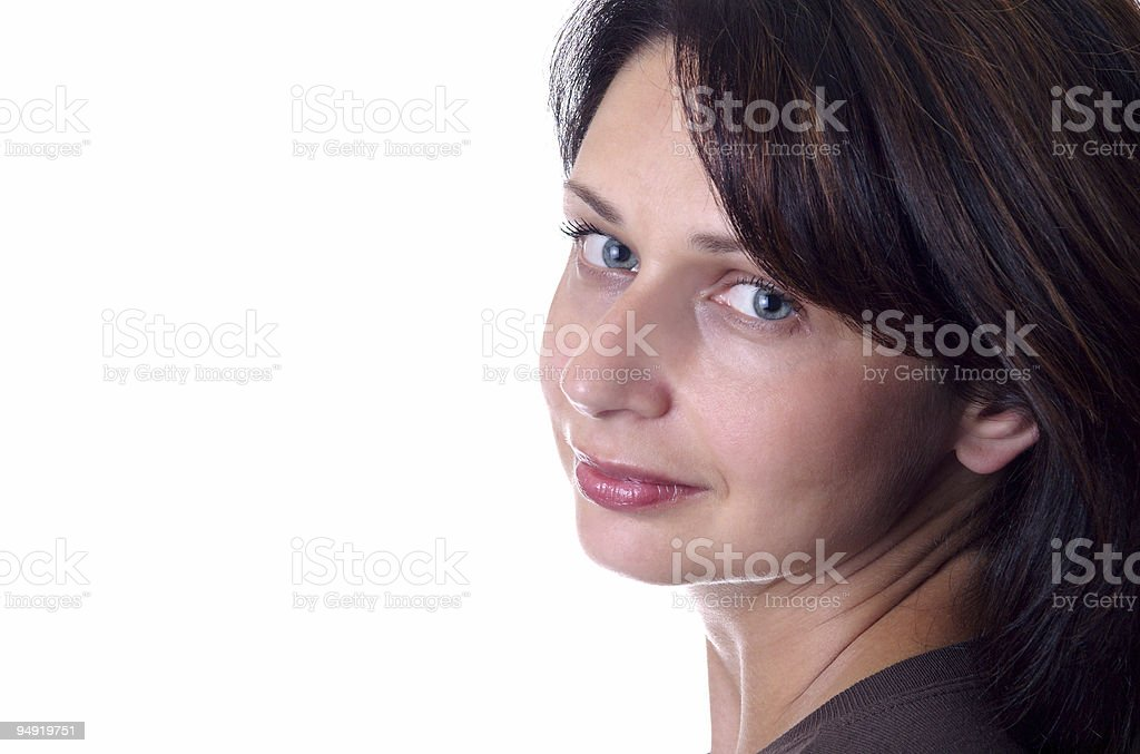 Lady portrait stock photo