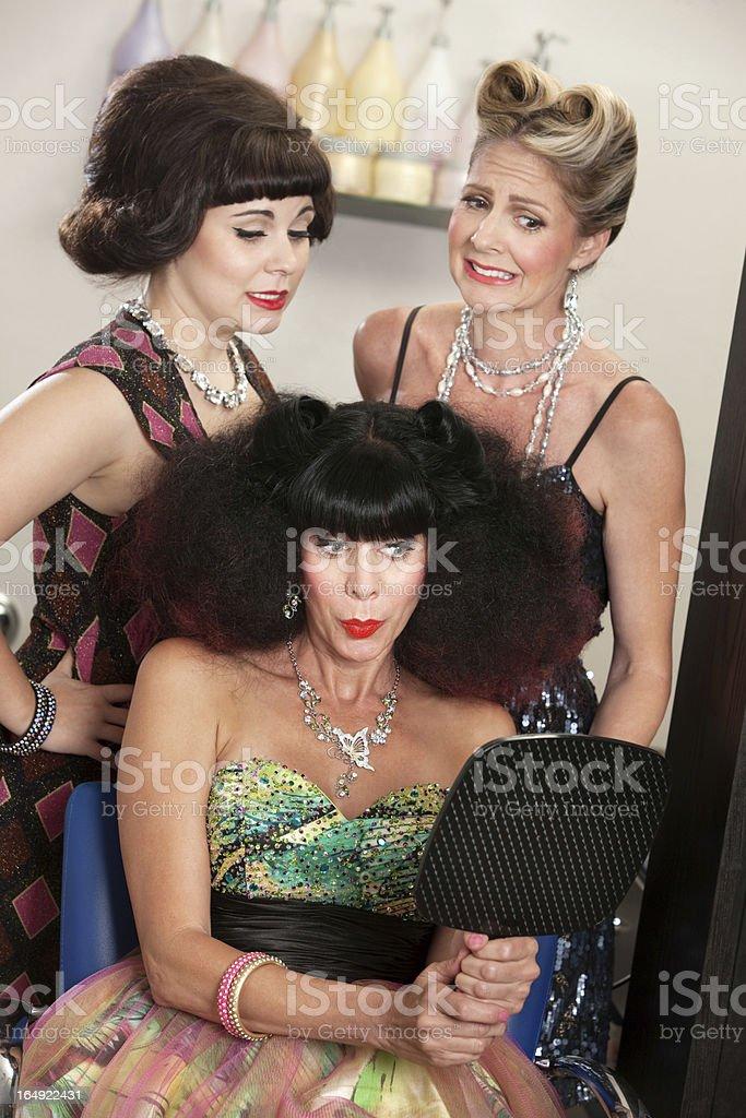 Lady Proud of Bad Hairdo royalty-free stock photo