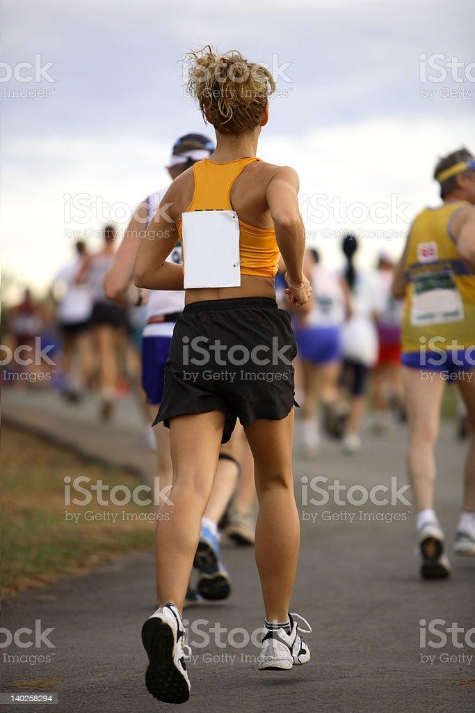 Lady running royalty-free stock photo