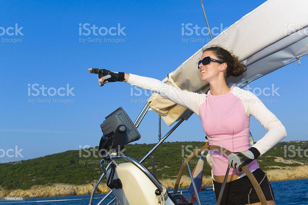 lady skipper royalty-free stock photo