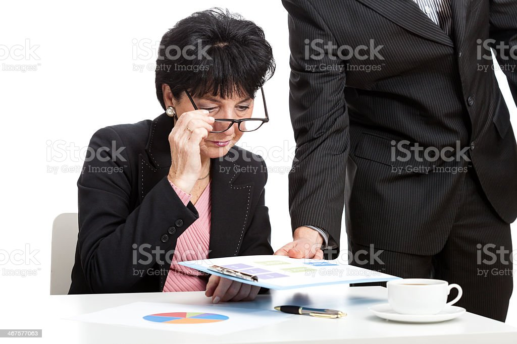 Lady, the chef of finance company royalty-free stock photo