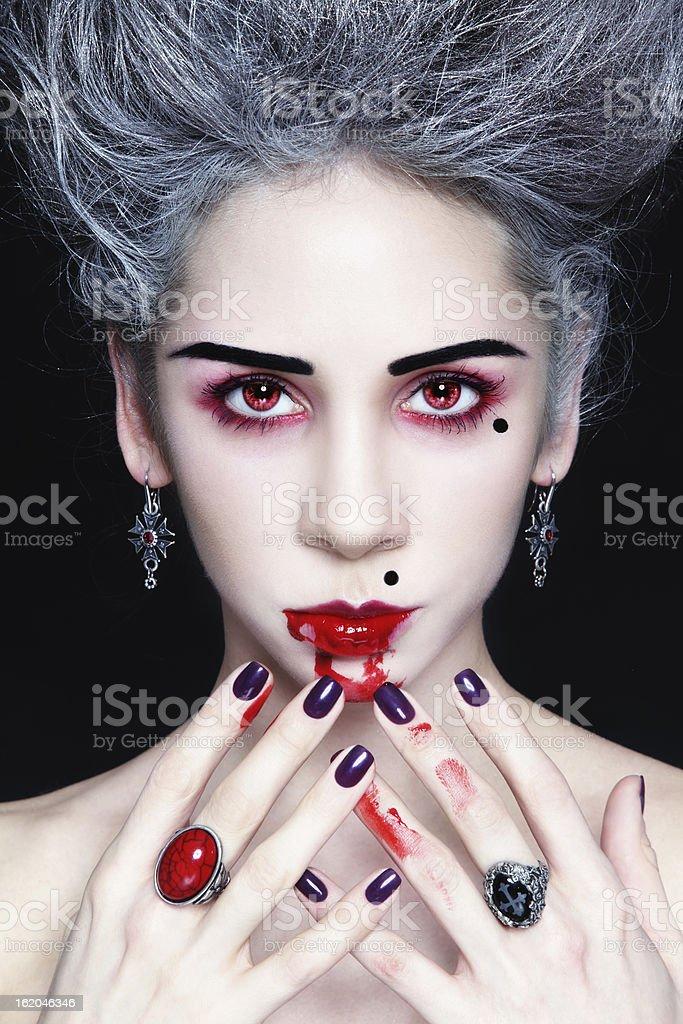 Lady vampire stock photo
