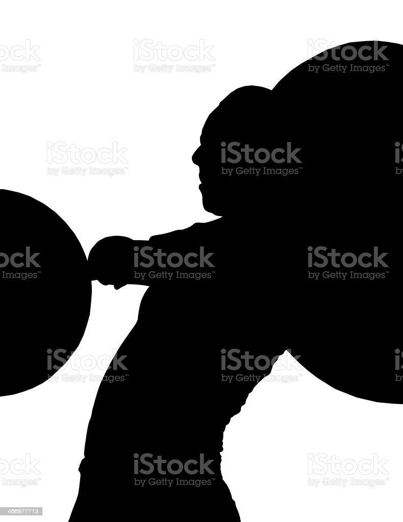 Lady Weight Lifter Silhouette royalty-free stock photo