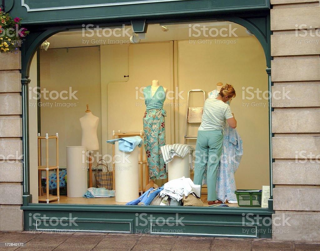 lady window dresser royalty-free stock photo