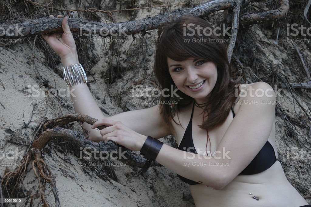 Lady with roots royalty-free stock photo