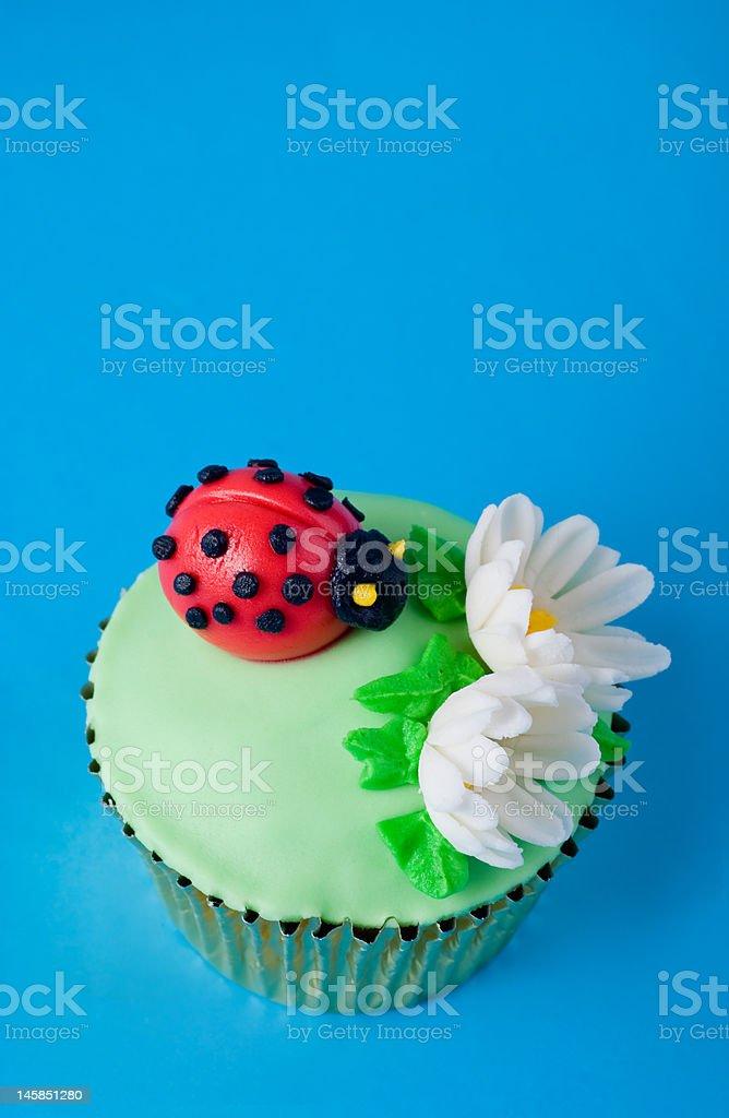 Ladybird cupcake royalty-free stock photo