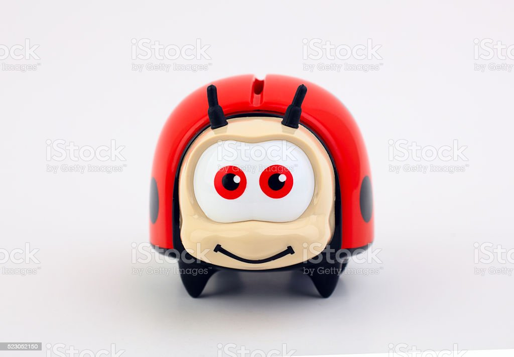 Ladybug bank stock photo