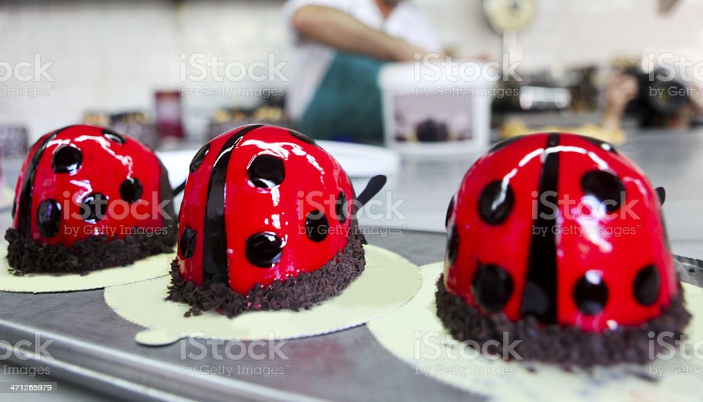 Ladybug Cakes royalty-free stock photo