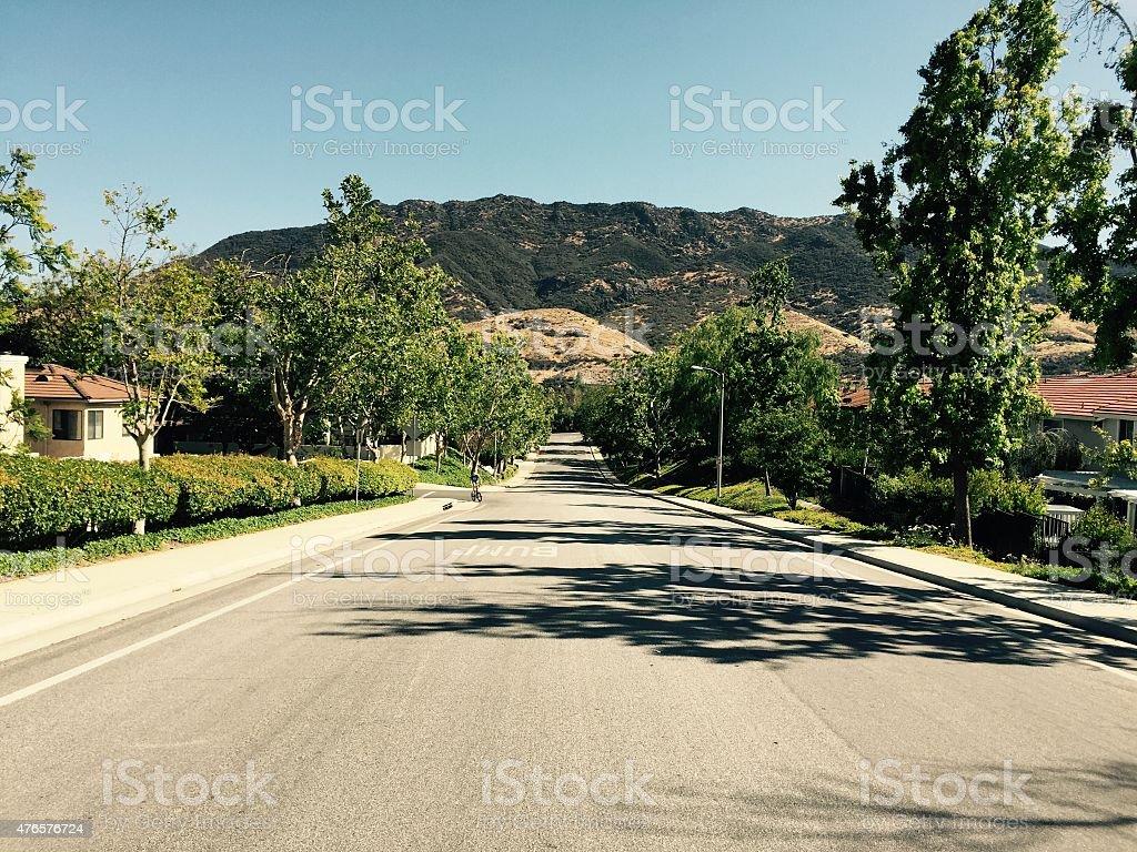 Ladyface Mountain stock photo