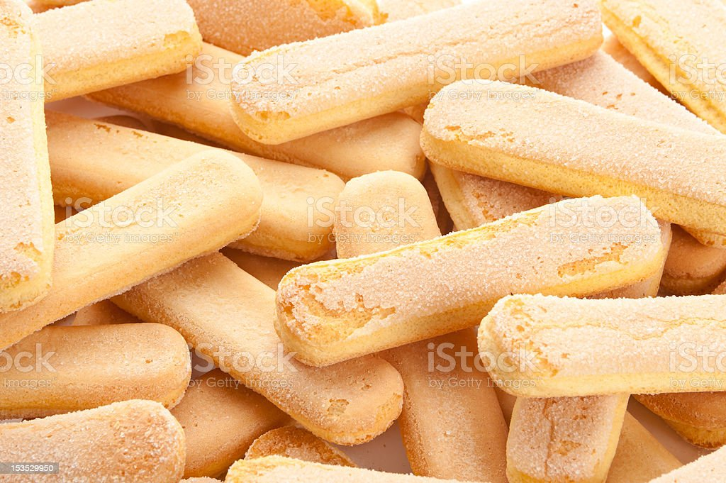 ladyfinger biscuits stock photo