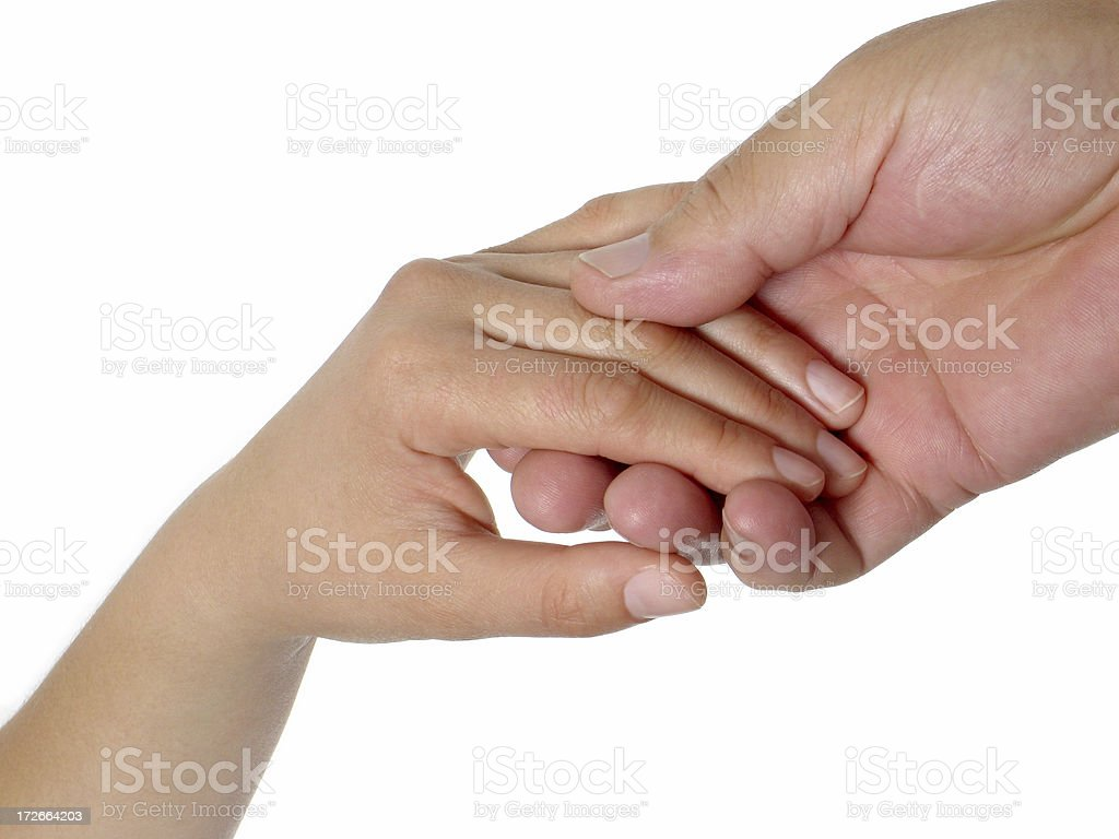 Lady's and Gentleman's Hands royalty-free stock photo
