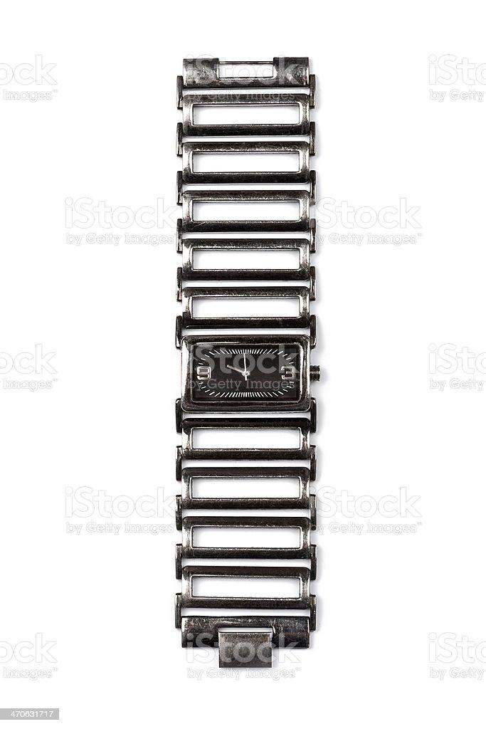 Lady's elegant wristwatch royalty-free stock photo