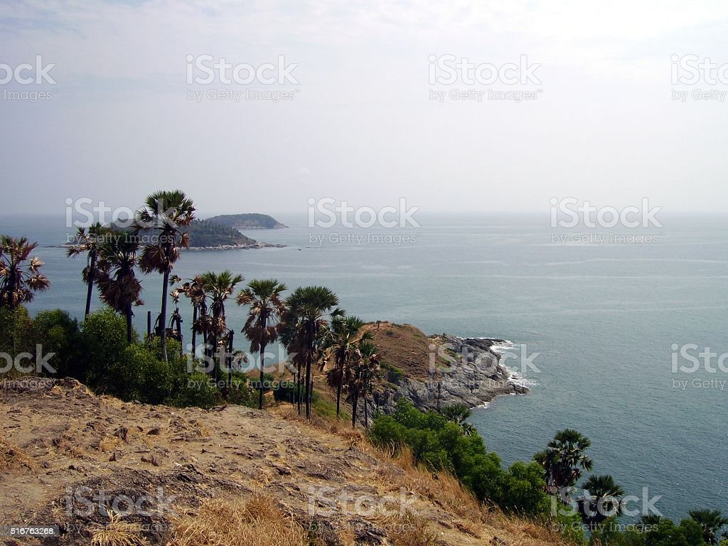 Laem Phromthep cape, Phuket, Thailand stock photo