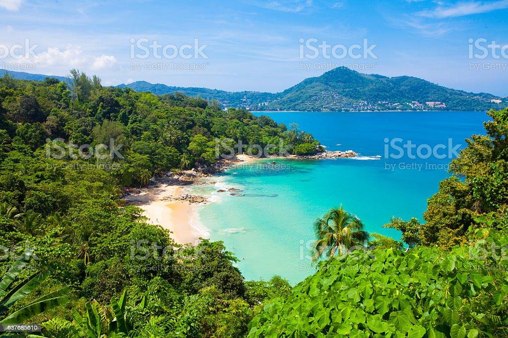 Laem Sing Beach, Located in Phuket, stock photo
