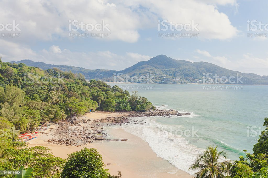 laem singha beach stock photo