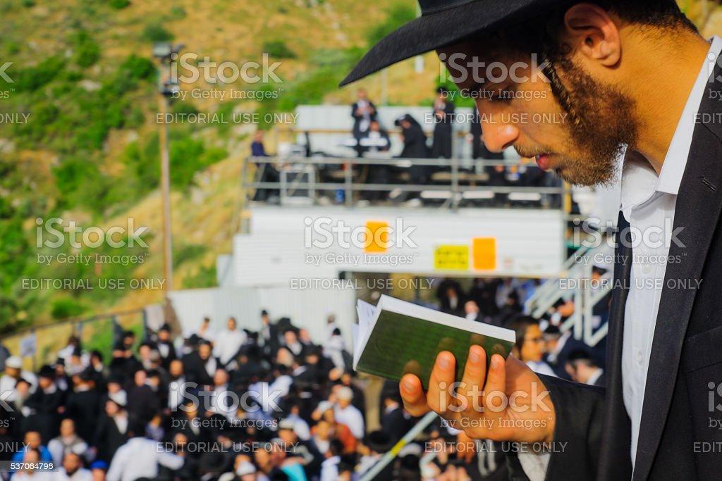Lag BaOmer on Mount Meron 2016 stock photo