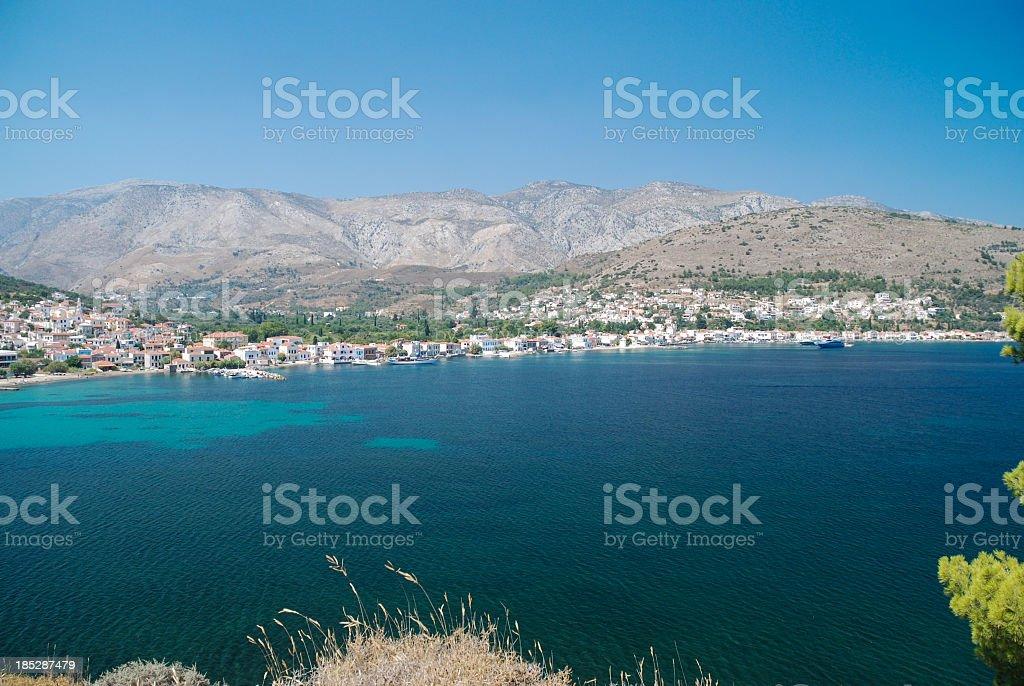 Lagada bay, Chios stock photo