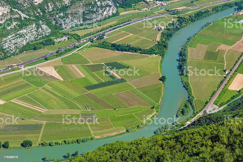 Lagarina Valley, Etschtal stock photo