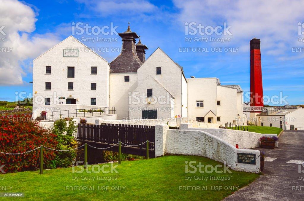 Lagavulin distillery factory, Islay, United Kingdom stock photo