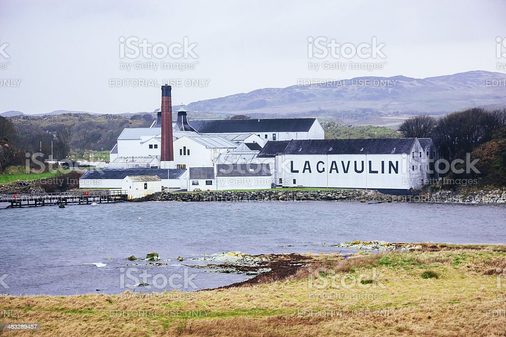 Lagavulin Distillery stock photo