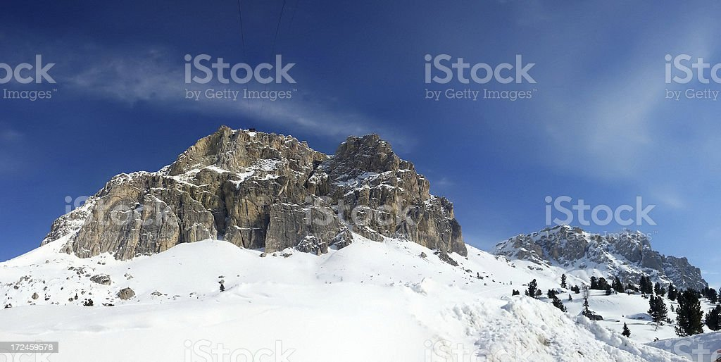 Lagazuoi, Dolomites royalty-free stock photo