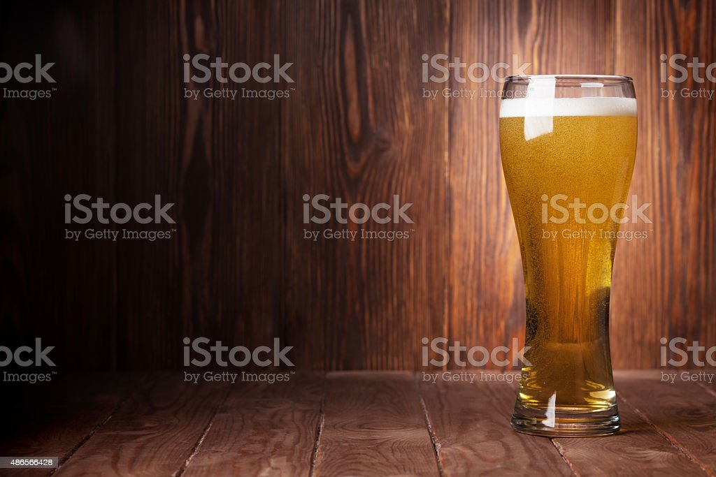 Lager beer glass stock photo
