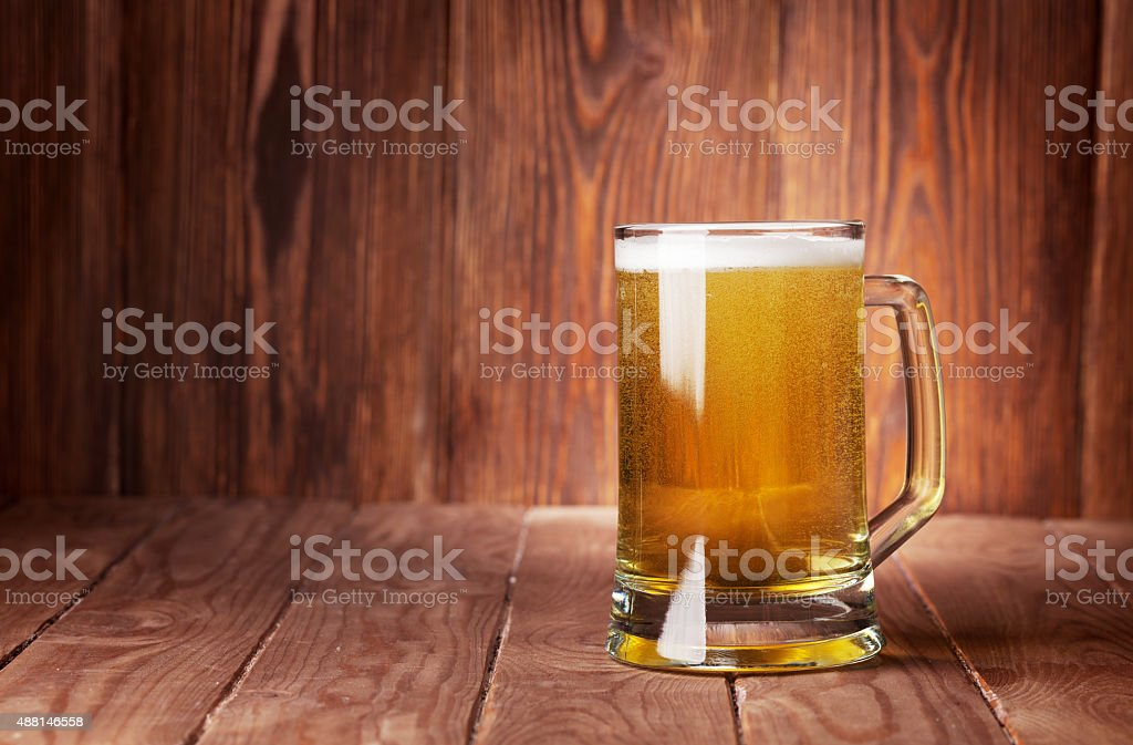 Lager beer mug stock photo