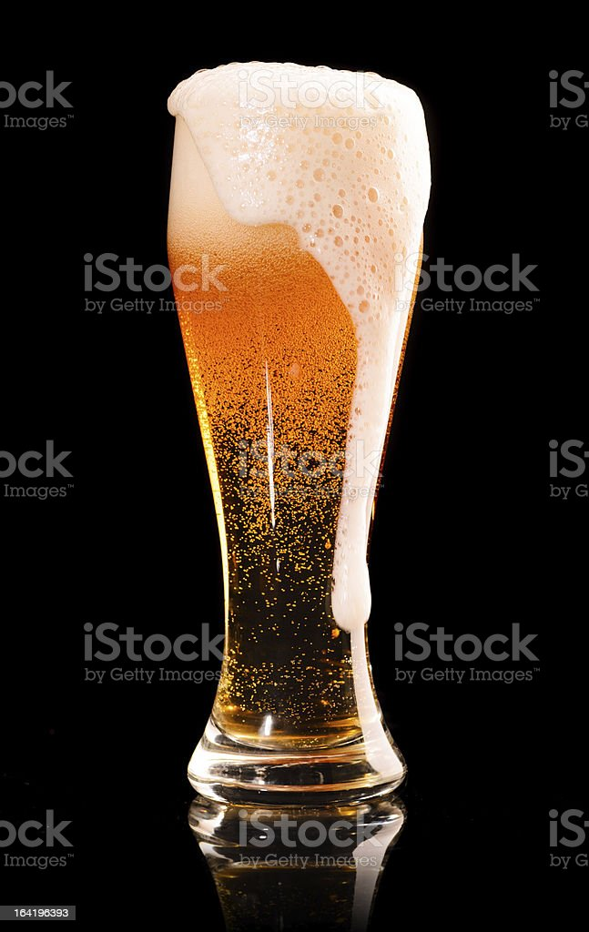 lager beer on black stock photo