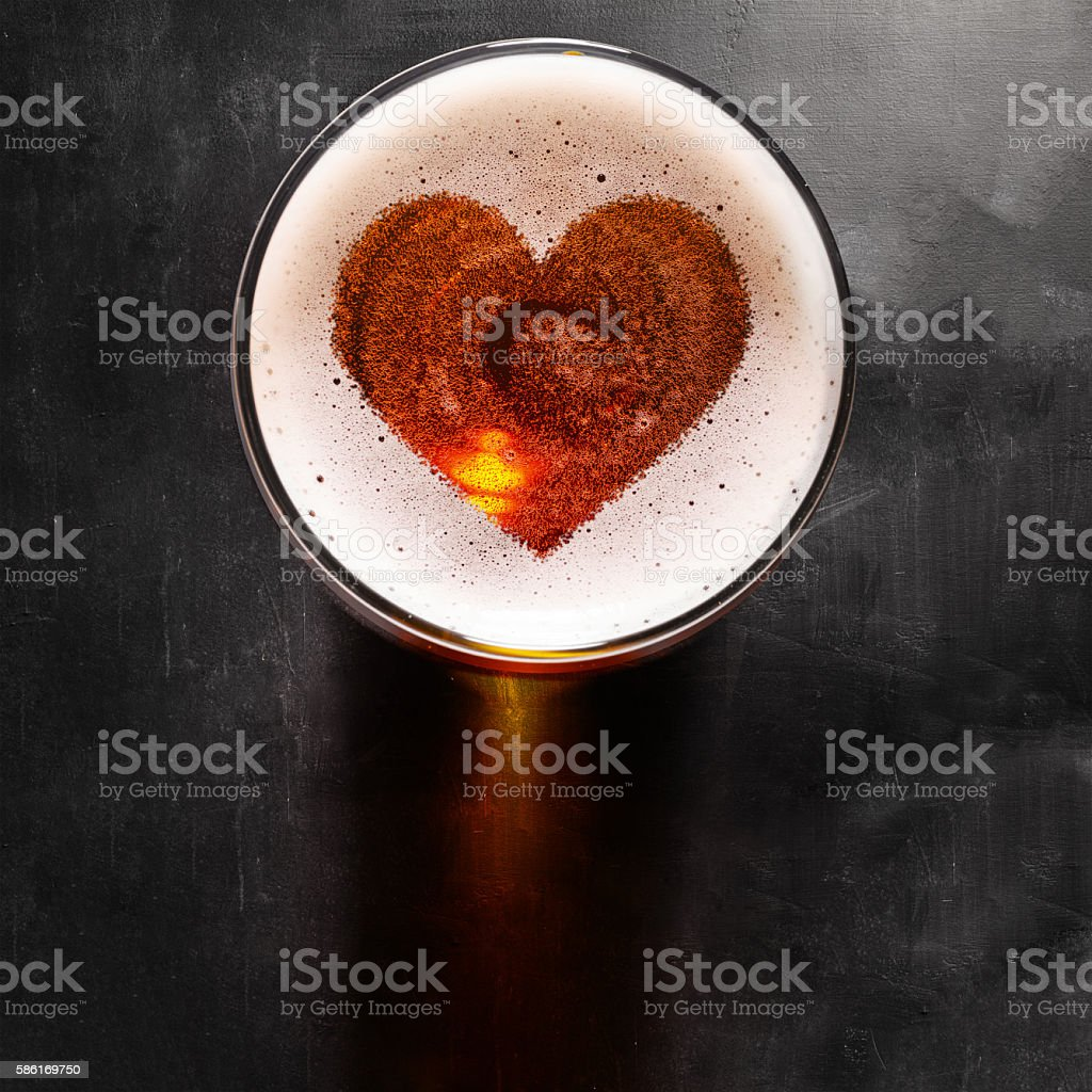 lager beer on table stock photo