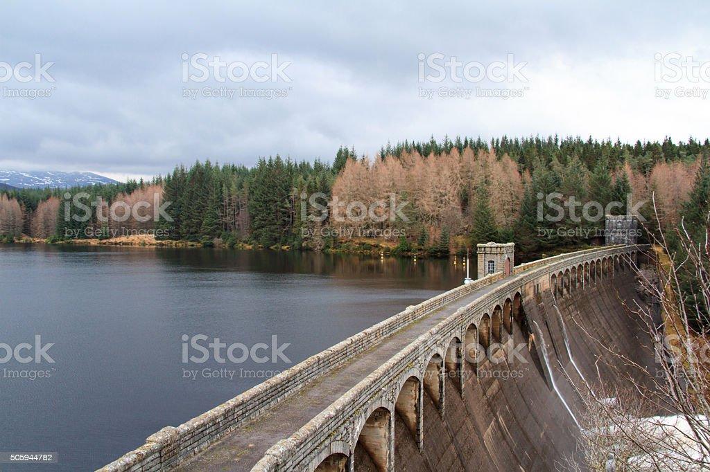Laggan Dam, Scottish Highlands, Scotland stock photo