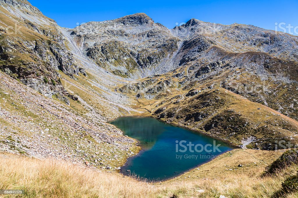 Lagh de Calvaresc - lake of heart stock photo