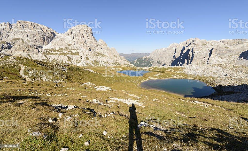 Laghi dei Piani, Dolomites royalty-free stock photo