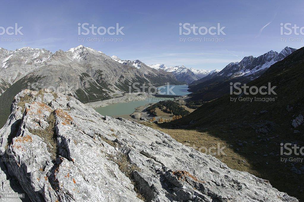 laghi di cancano stock photo