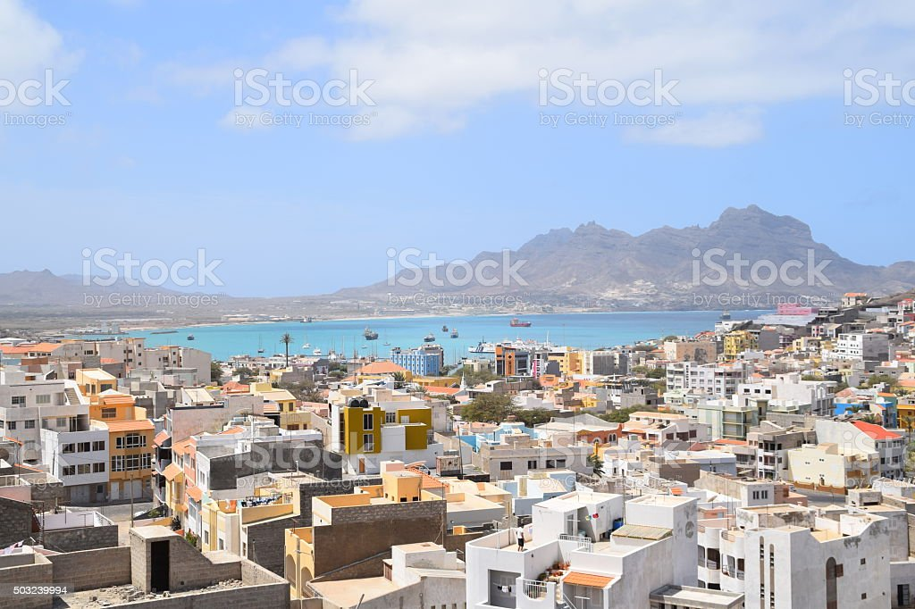 Laginha beach view stock photo