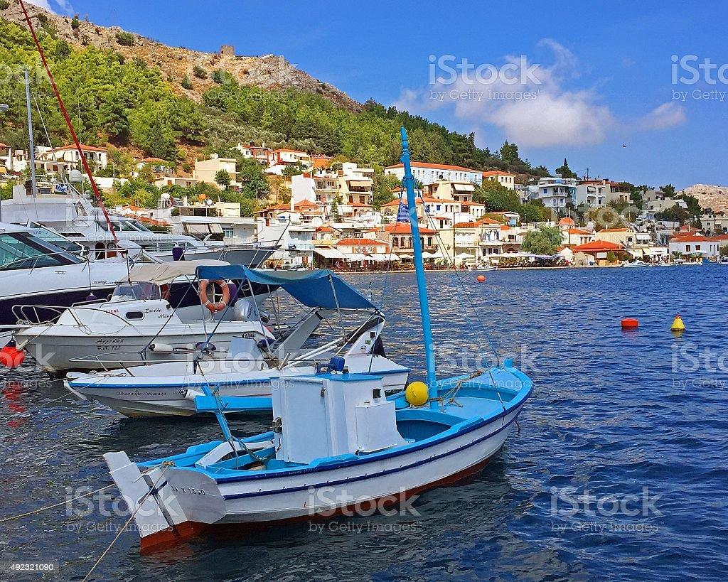 Lagkada, Chios Island, Greece stock photo