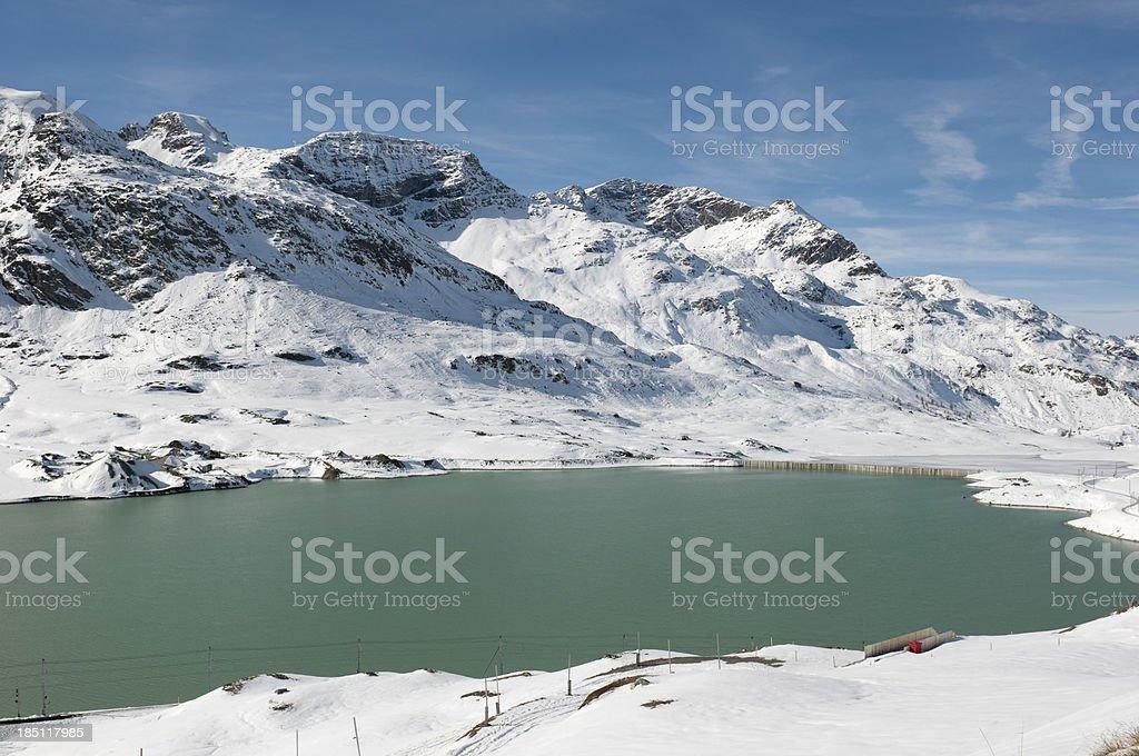 Lago Bianco, Berninapass royalty-free stock photo