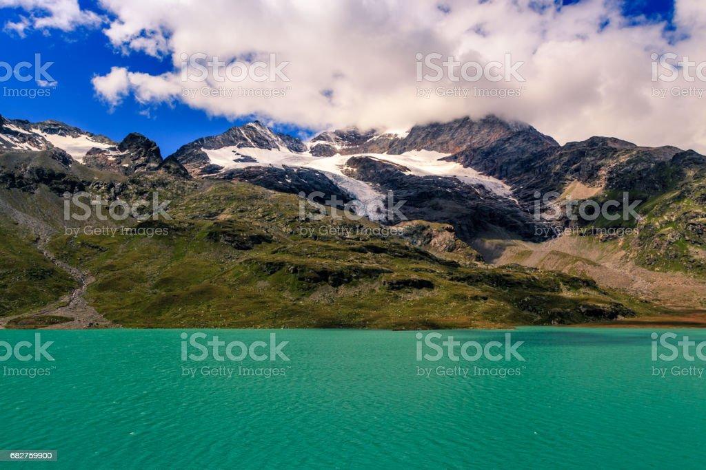 Lago Bianco, Ospizio Bernina, Poschiavo, Switzerland stock photo