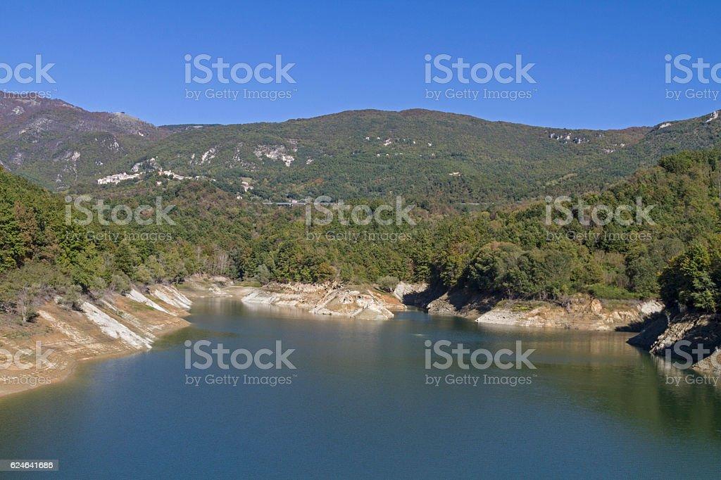 Lago del Salto stock photo