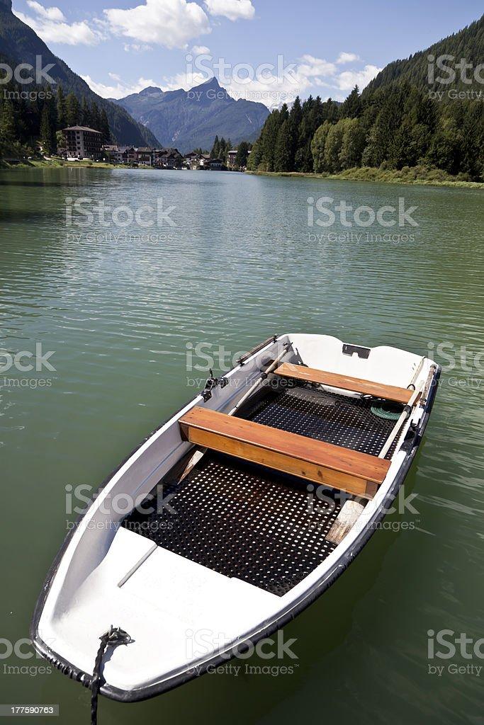 Lago di Alleghe stock photo