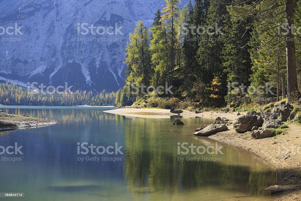 'Lago di Braies - Pragser Wildsee,  South Tyrol, Italy' stock photo