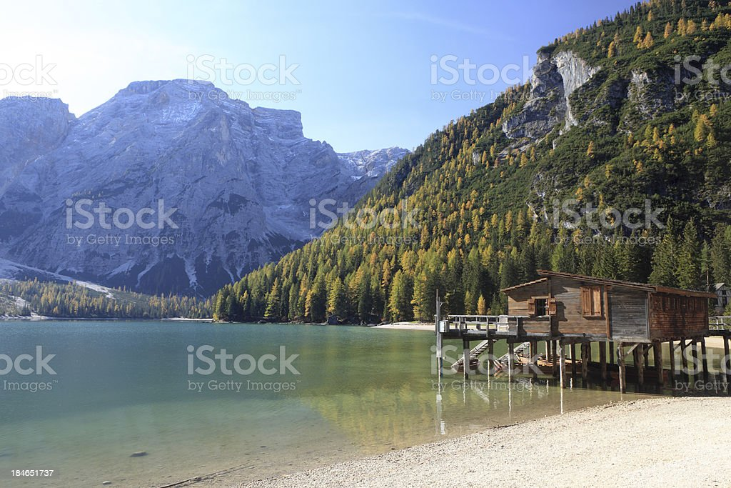 'Lago di Braies-Pragser Wildsee, Dolomites   South Tyrol, Italy' stock photo