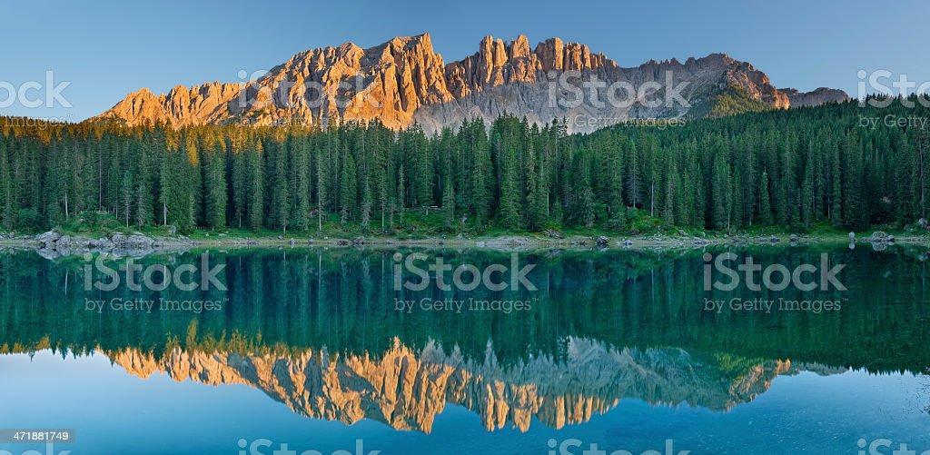 Lago di Carezza (Dolomiti) royalty-free stock photo