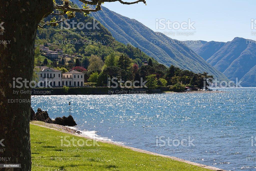 Lago di Como / Como lake stock photo