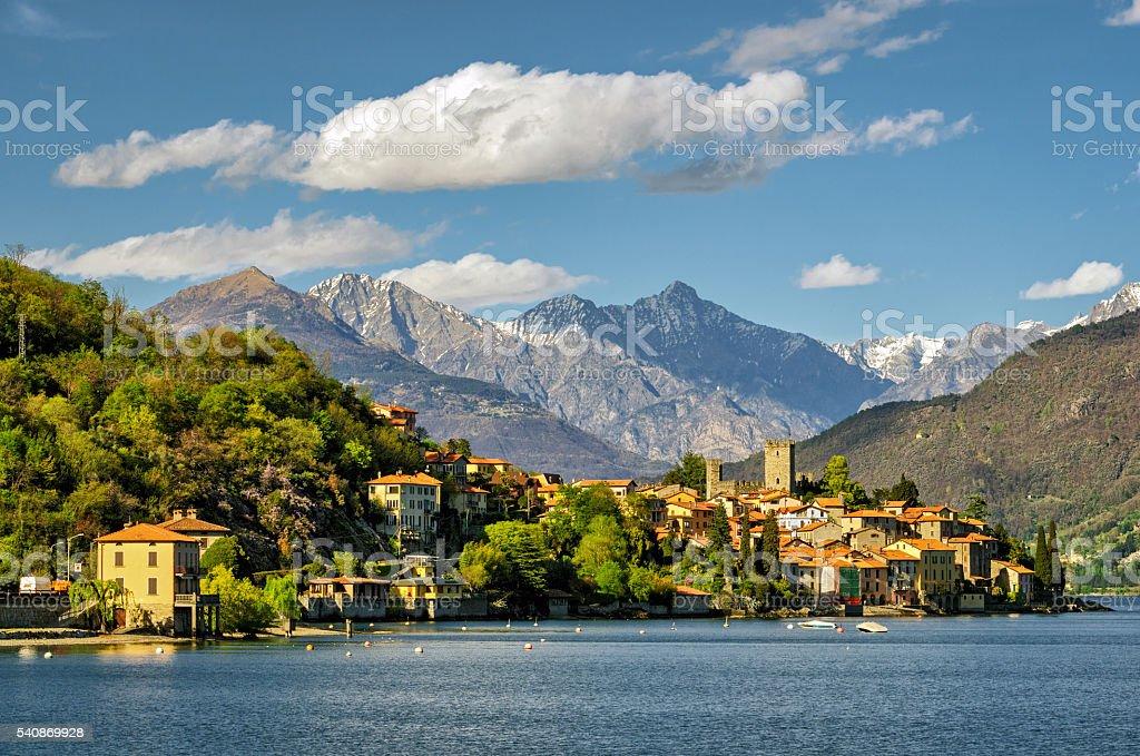 Lago di Como (Lake Como) Rezzonico1 stock photo