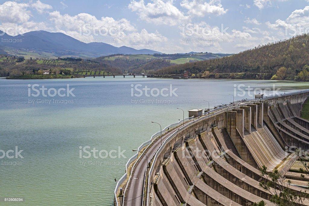 Lago di Corbara stock photo