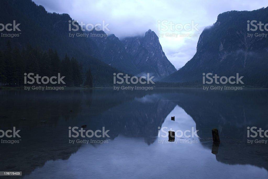Lago di Dobbiaco stock photo