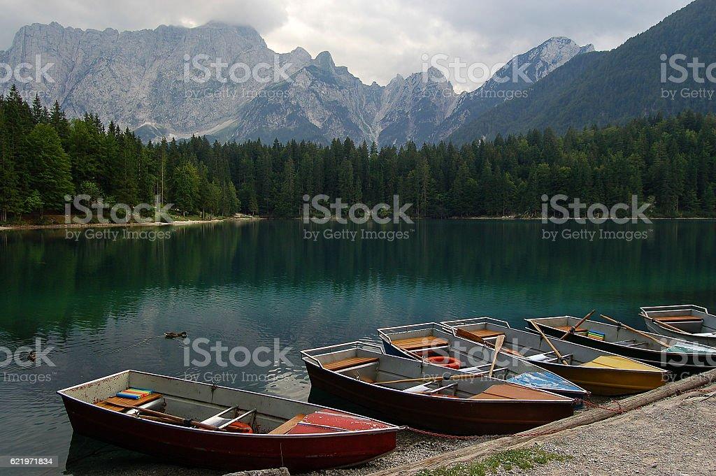 Lago di Fusine - Friuli Italy stock photo